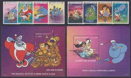 SIERRA LEONE 1997 - Disney Aladdin - Mi 2752-9 + B353-4; CV=22.5 € - Fiabe, Racconti Popolari & Leggende