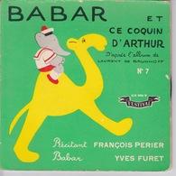 1957 Livre Disque 45t. Babar Et Ce Coquin D'Arthur - - Children