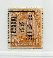Timbre Belge PO 135 Bruxelles 22 Brussel - Roller Precancels 1910-19