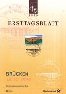 West-Duitsland - Ersttagsblatt - 36/1999 - Brücken (III): Göltzschtalbrücke - Michel 2092 - Bruggen