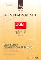 West-Duitsland - Ersttagsblatt - 37/1999 - 50 Jahre Deutscher Gewerkschaftsbund - Michel 2083 - [7] West-Duitsland