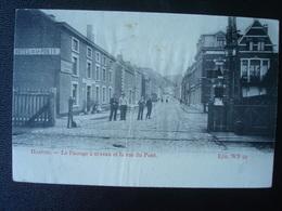 HAMOIR : Le Passage à Niveau Et La Rue Du PONT  En 1911 - Hamoir