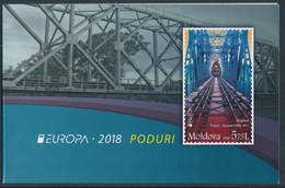 "MOLDOVA/Moldawien EUROPA 2018 ""Bridges"" Booklet With 2 Minisheets** - 2018"