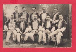 234412 / BULGARIA REAL PHOTO - FOLK NATIONAL  COSTUME TWO MEN  SHOP SOFIA - Dogana