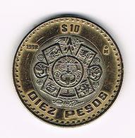&  MEXICO  10  PESOS  1998  MO - Mexique