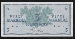 Finlande -  5 Markkaa - Pick N°99 - NEUF - Finland