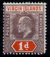 BRITISH VIRGIN ISLANDS 1904 - From Set MH* - British Virgin Islands