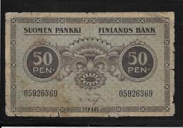 Finlande -  50 Pennia - Pick N°34 - B/TB - Finland