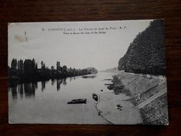 L1 /135 Chinon . La Vienne En Aval Du Pont. - Chinon