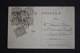 France - 3 Juin 1912 Type Blanc N° 107 Par 5 Sur Carte Postale Versaille Petit Trianon - Marcophilie (Lettres)