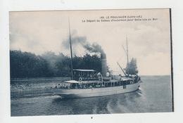 44 - LE POULIGUEN / LE DEPART DU BATEAU D'EXCURSION POUR BELLE ISLE EN MER - Le Pouliguen