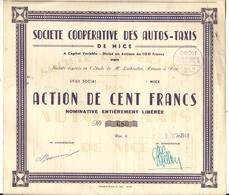 NICE . COOPERATIVE DES AUTO TAXIS - Automobile