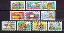 FRANCE 2008 : GARFIELD / SOURIRES / SERIE COMPLETE - Used Stamps