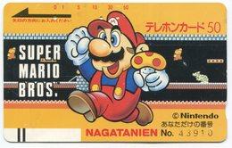 1854 - SUPER MARIO BROS. Japan Balken-Telefonkarte - BD