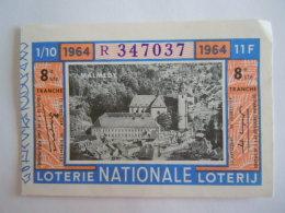 Belgie Belgique Loterie Nationale Loterij Malmedy 1964 8 E Ste Tranche - Billets De Loterie
