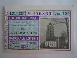 Belgie Belgique Loterie Nationale Loterij Mol 1965 12 E De Tranche - Billets De Loterie