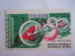Belgie Belgique Loterie Nationale Loterij Reveillons Eindejaarstranche Bruxelles Père Noël 1964 18 E De Tranche - Billets De Loterie