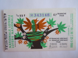 Belgie Belgique Loterie Nationale Loterij 4 De E Tranche (speciale) Neerpelt 1968 - Billets De Loterie