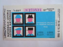Belgie Belgique Loterie Nationale Loterij 6 De E Tranche (speciale)  Putte 1968 - Billets De Loterie