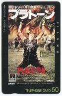 1864 - PLATOON Mit Charlie Sheen - Movie / Film - Japan Telefonkarte - Cinéma