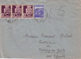 ALGERIE - ALGER - DAGUIN - JE FAIS LA / GUERRE - LETTRE DE KOUBA ALGER POUR AFFREVILLE - Postmark Collection (Covers)