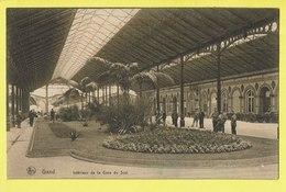 * Gent - Gand (Oost Vlaanderen) * (Nels, Série Gand, Nr 76) Intérieur De La Gare Du Sud, Zuidstatie, Railway Station - Gent