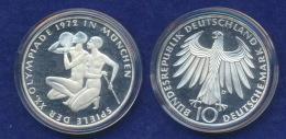 BRD 10 DM 1971D Olympische Spiele 1972 3. Ausg. PP  Ag625 - [ 7] 1949-…: BRD