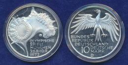 BRD 10 DM 1972D Olympische Spiele 1972 4. Ausg. PP  Ag625 - [ 7] 1949-…: BRD