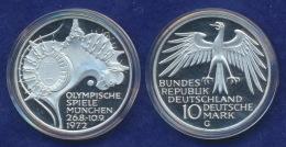BRD 10 DM 1972G Olympische Spiele 1972 4. Ausg. Stg  Ag625 - [ 7] 1949-…: BRD