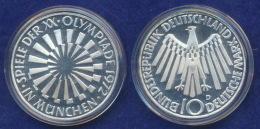BRD 10 DM 1972D Olympische Spiele 1972 5. Ausg. PP  Ag625 - [ 7] 1949-…: BRD