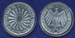 BRD 10 DM 1972G Olympische Spiele 1972 5. Ausg. PP  Ag625 - [ 7] 1949-…: BRD
