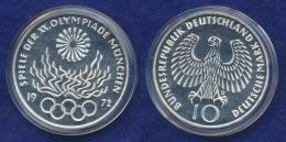BRD 10 DM 1972D Olympische Spiele 1972 6. Ausg. PP  Ag625 - [ 7] 1949-…: BRD