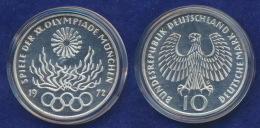 BRD 10 DM 1972G Olympische Spiele 1972 6. Ausg. PP  Ag625 - [ 7] 1949-…: BRD