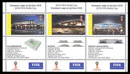 FIFA World Cup 2018 Russia, Cinderella 4 Minisheets - Russie & URSS