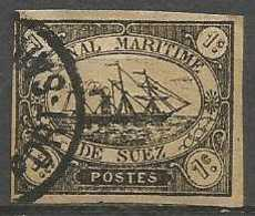 Egypt  - 1868 Suez Canal Issue 1c Used (assumed To Be Forgery Or Reprint)  Sc L1 - Ägypten