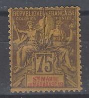 Santa Maria De Madagascar 12 * Charnela Con Defectos - Madagascar – Sainte-Marie (1894-1898)