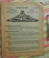 Julius Peitsch Dortmund/Berlin - Fabrikat Für Dampfhammerwerks - Preislist - 1884 - Allemagne