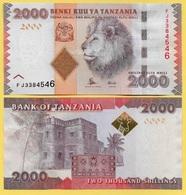 Tajikistan 2000 Shillings P-42 2010 UNC - Tanzania