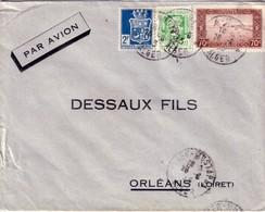ALGERIE - ALGER MUSTAPHA - BEL AFFRANCHISSEMENT AVEC MARIANNE D'ALGER POUR LA FRANCE.- 26-6-1944 - Covers & Documents