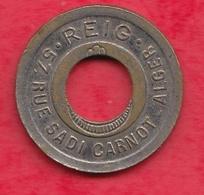 Algérie 1 Jeton Reig Troué Dans L 'état - Monetary /of Necessity
