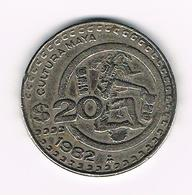 &  MEXICO  20  PESOS  1982 - Mexique