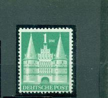 Bizone, Holstentor Lübeck Nr. 97 II Wg Postfrisch ** - Bizone