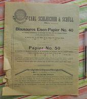 Papier Carl Schleicher Und Schüll, Düren Rheinland - Blausaures Eisen Papier N°40 - 1885 - Stamperia & Cartoleria