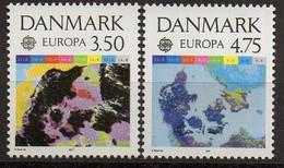 PIA - DANIMARCA - 1991 - EUROPA - (Yv  1004-05) - Spazio
