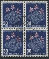 1869 - 30 Rp. Alpenveilchen - Zentrumstempel LUZERN 4 OBERGRUND 18.XII.47 - Gebraucht