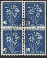 1870 - 40 Rp. Paradieslilie - Zentrumstempel ZÜRICH 1.XII.48 - Pro Juventute