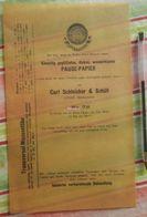 Pause-papier Carl Schleicher Und Schüll, Düren Rheinland - N°78 - 1884 - Stamperia & Cartoleria