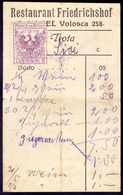ITALIA - CROATIA - ISTRIA - RESTAURANT FRIEDRICHSHOG VOLOSCA ABBAZIA - Cc 1926 - Food