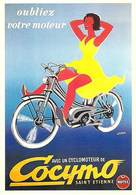 PUB Publicité NUGERON J125 Oubliez Votre Moteur Cyclomoteur COCYMO (D'aprés Affiche Lebrun Bibliothéque Fornay*PRIX FIXE - Publicité