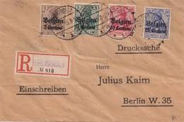 GERMAN Alliered Occupation. Belgian Zone  1915,  Send To Berlin - Zona Belga